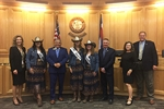 Fair royalty present fair book to Weld County Commissioners