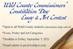 Commissioners announce essay and art contest for Weld County students